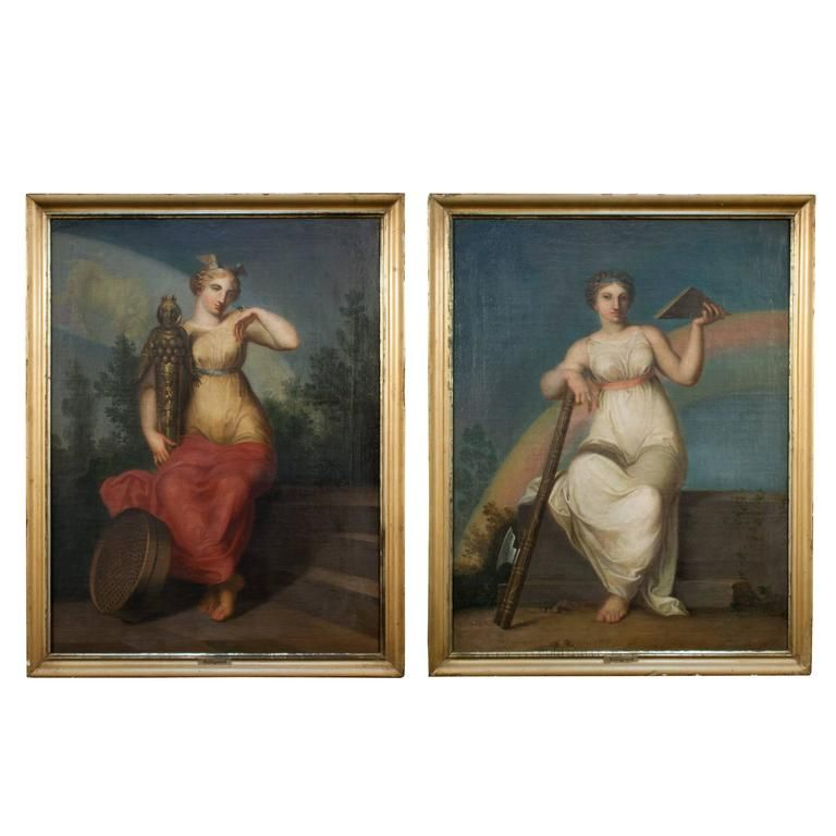 Pair of Paintings by Nicolai Abildgaard | From a unique collection of antique and modern paintings at https://www.1stdibs.com/furniture/wall-decorations/paintings/