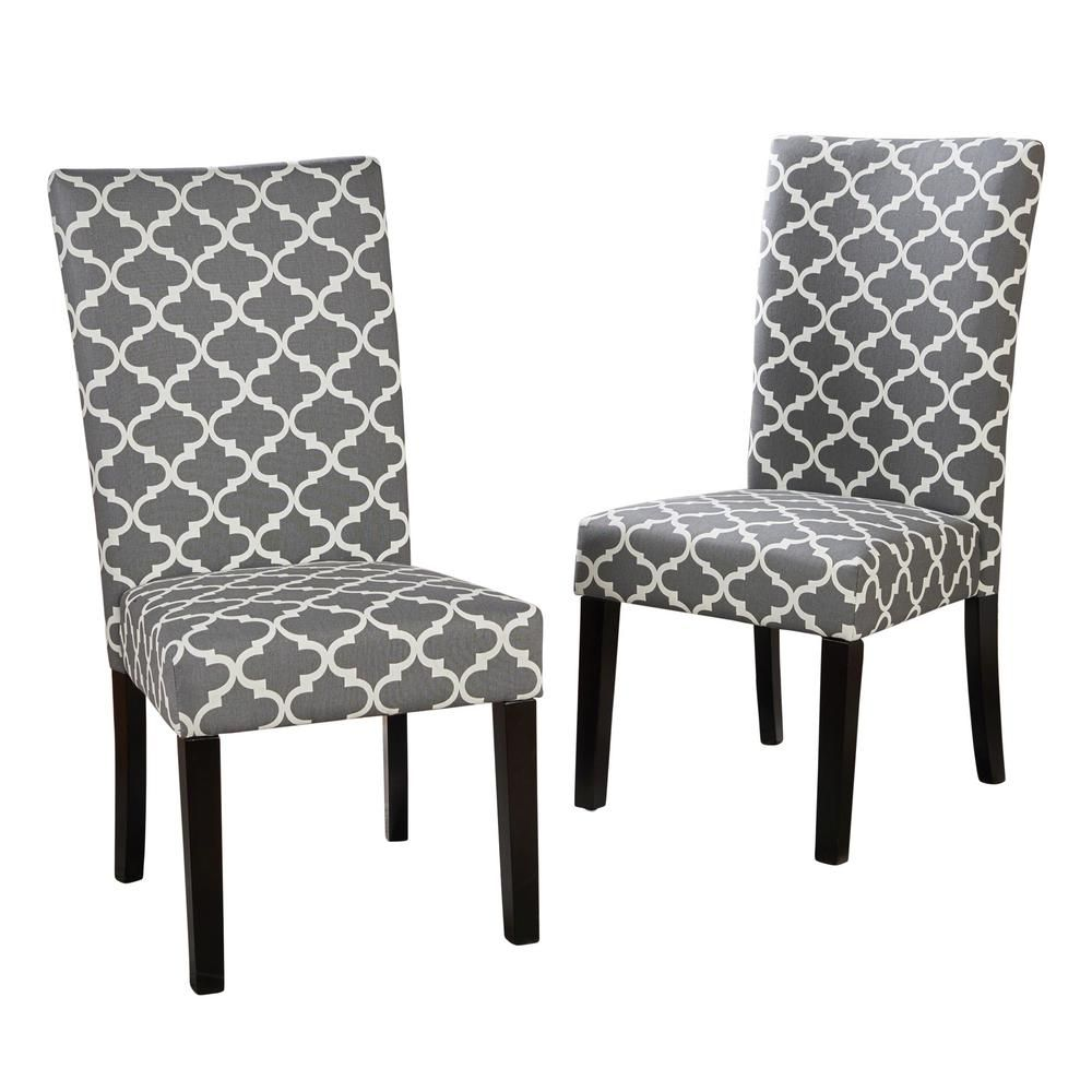 Esszimmerstuhl Borelas Noble House Harleigh Gray Fabric Dining Chair Set Of 2 In 2018