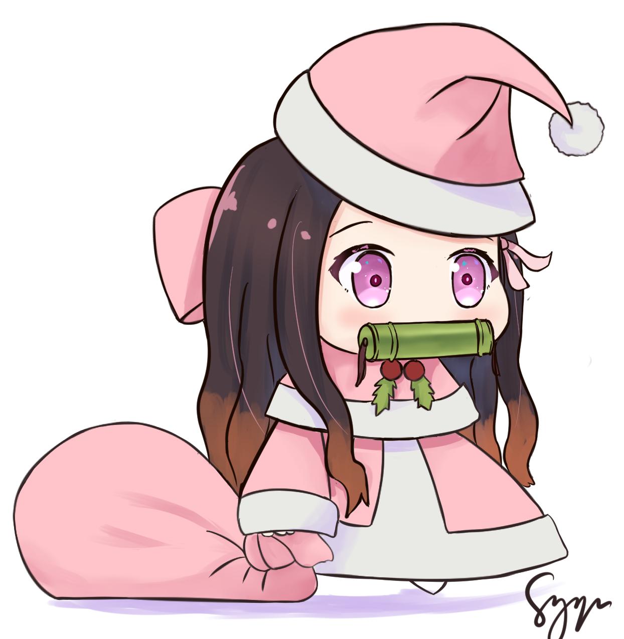Nezuko Padoru By Syyn Padoru Anime Christmas Anime Chibi Anime