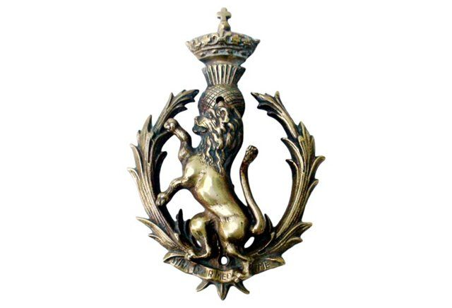 Scottish Royal Coat of Arms Door Knocker 3-30-15 $295 sold