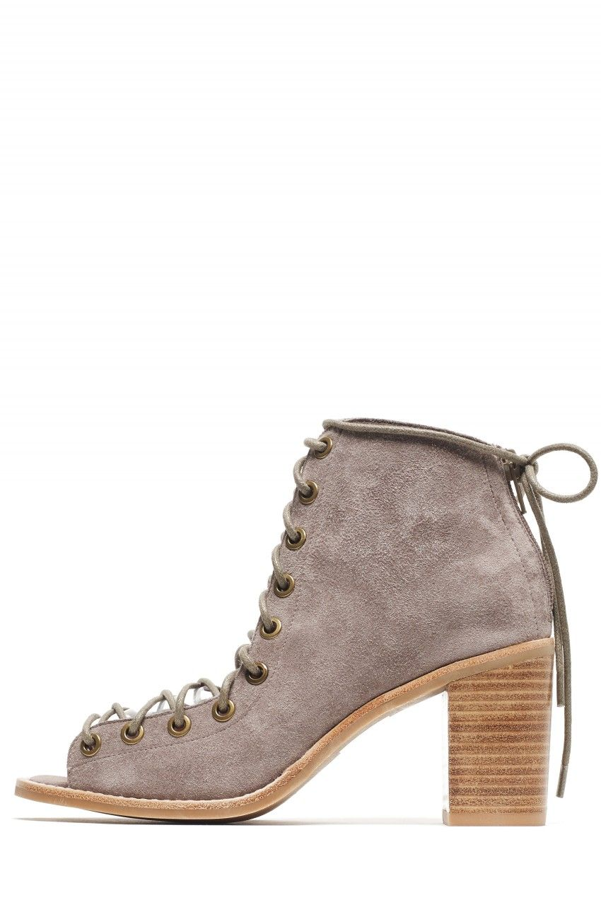 Jeffrey Campbell Shoes CORS Shop All in Taupe Suede