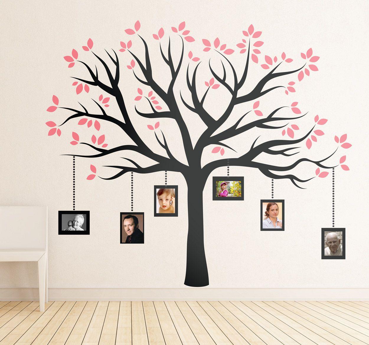 Vinilo decorativo marcos árbol familiar | Painted walls | Pinterest ...