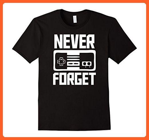 Mens Never Forget Video Game Shirt Retro Shirt Small Black - Retro shirts (*Partner-Link)