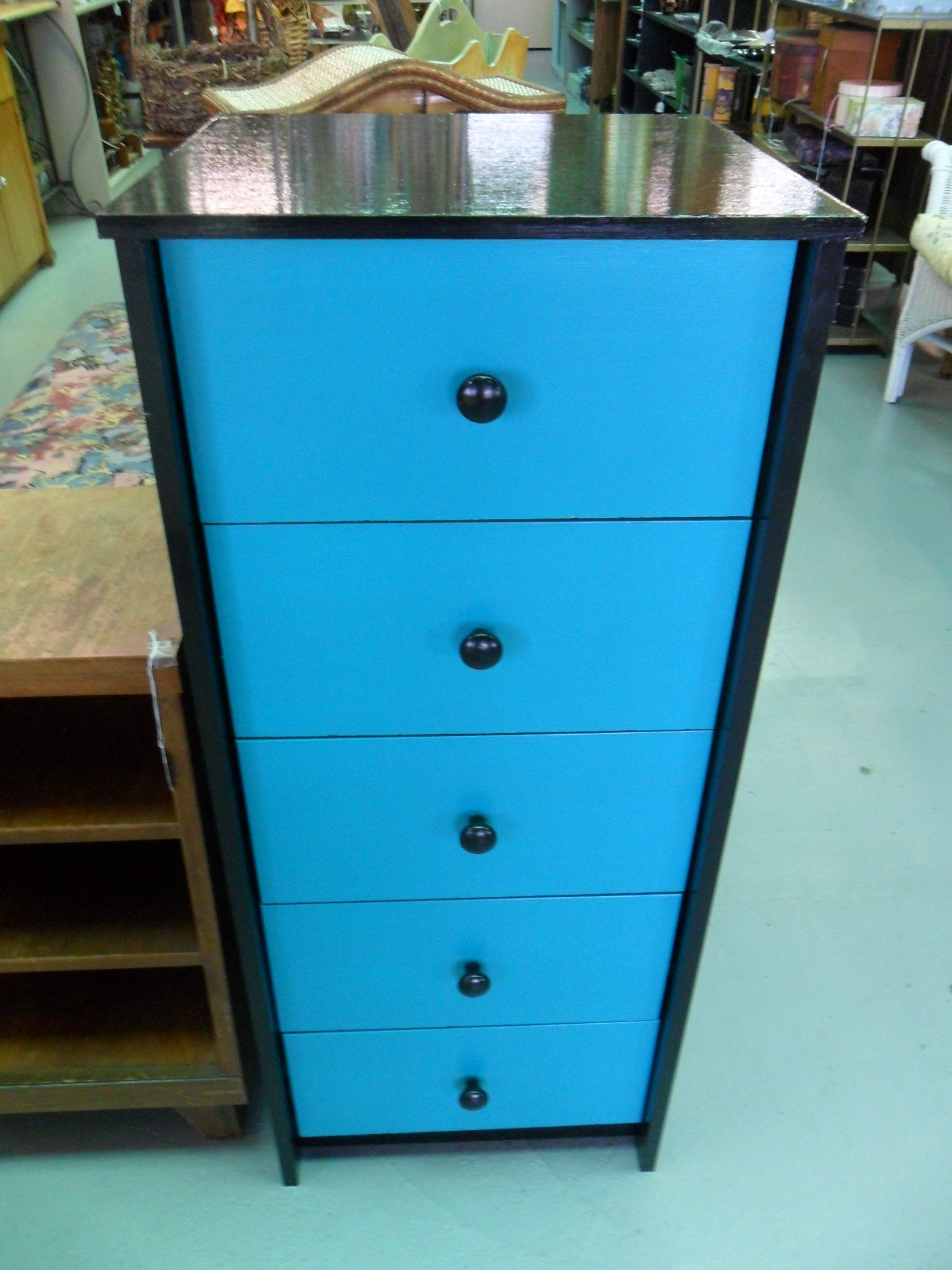 Best Teal And Black 5 Drawer Chest 5 Drawer Chest Chest Of 400 x 300