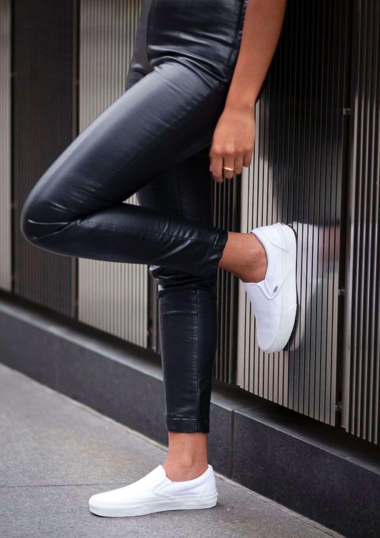 Pin By Elin Linden On All Dressed Up White Slip On Vans Slip Ons Outfit White Slip On Vans Outfit [ 1758 x 1242 Pixel ]