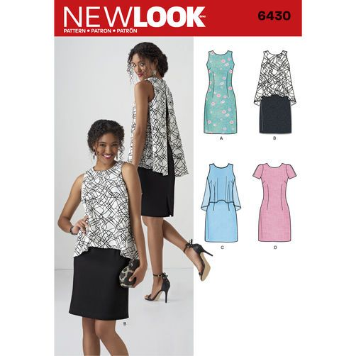New Look Pattern 6430 Misses\' Dress in Two Lengths   Patterns ...