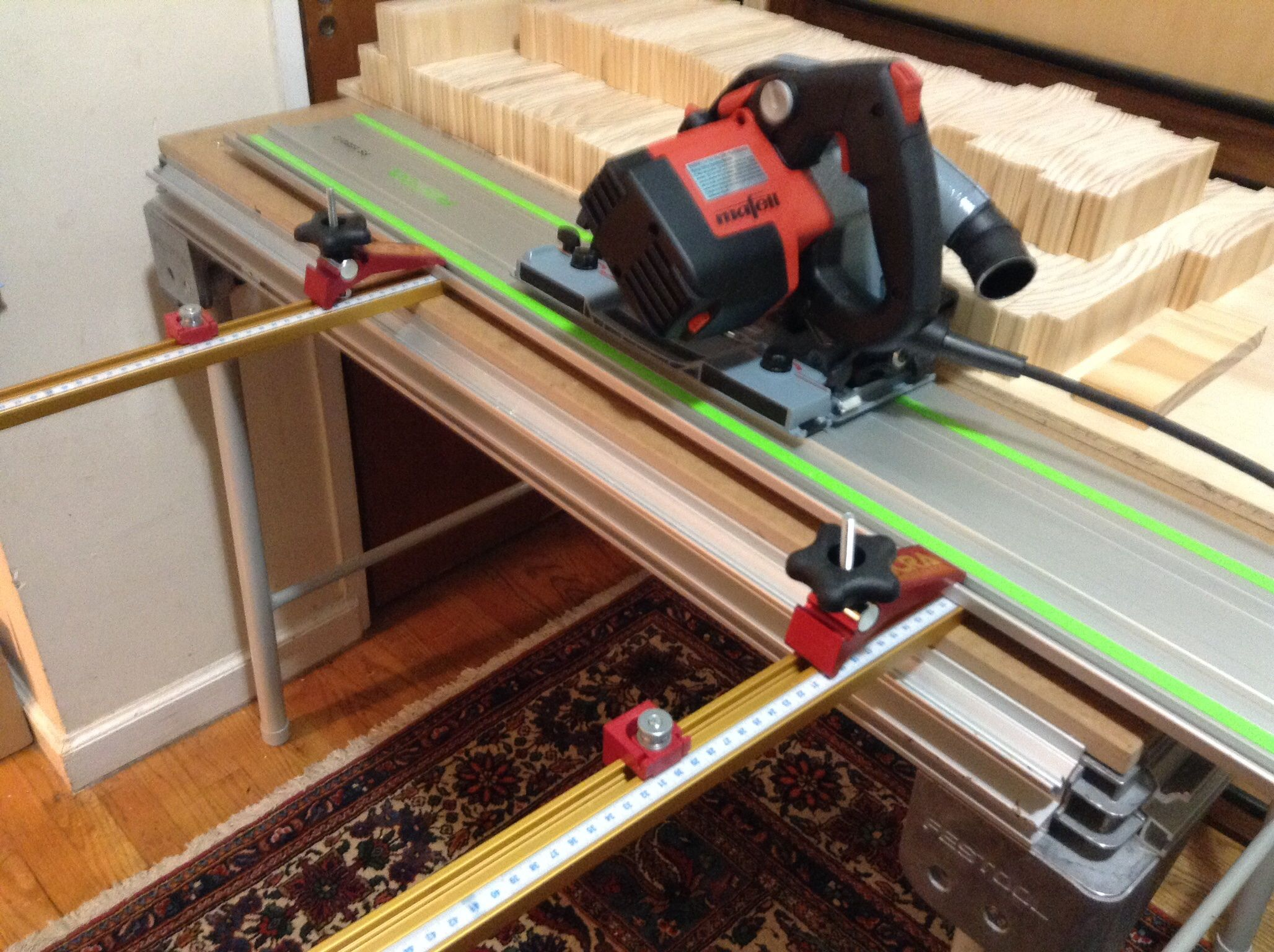 1 Parallel Rip Guides For Festool Track Saws Using Incra