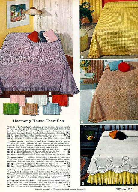 Sears 1960 Fall Catalog Vintage Bed Bedroom Vintage Vintage Linens