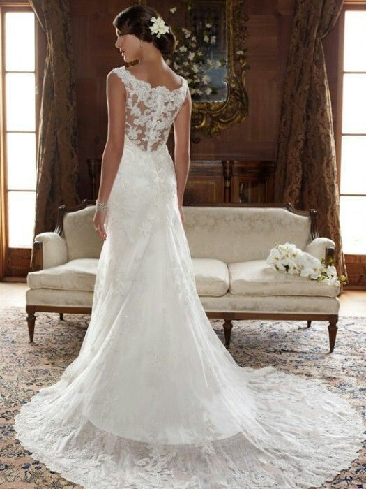 lace wedding dress with open back | Nuptuals | Pinterest | Lace ...
