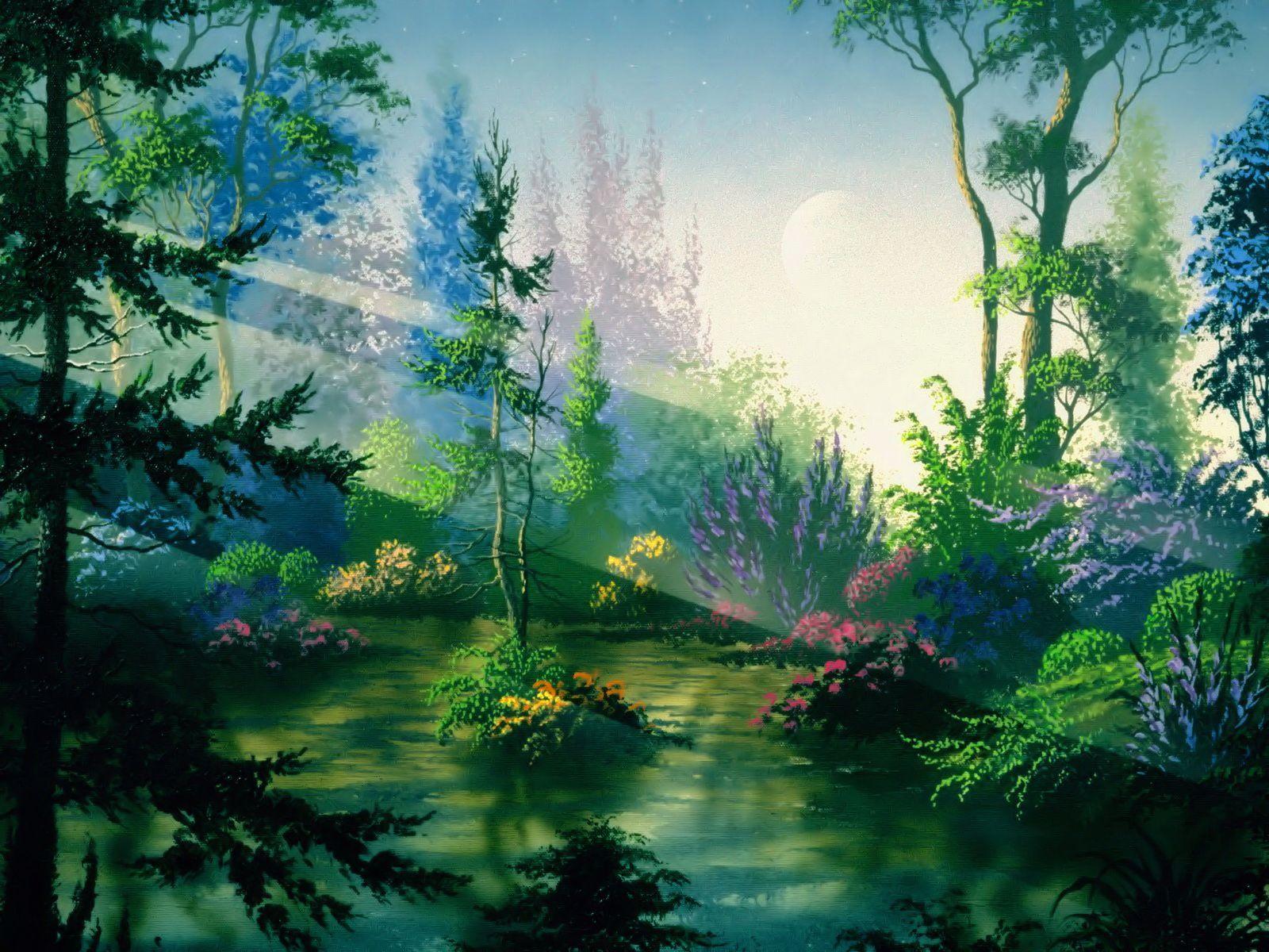 Fantasy Photo Fantasy Forest Scenery Wallpaper Fantasy Landscape Anime Scenery