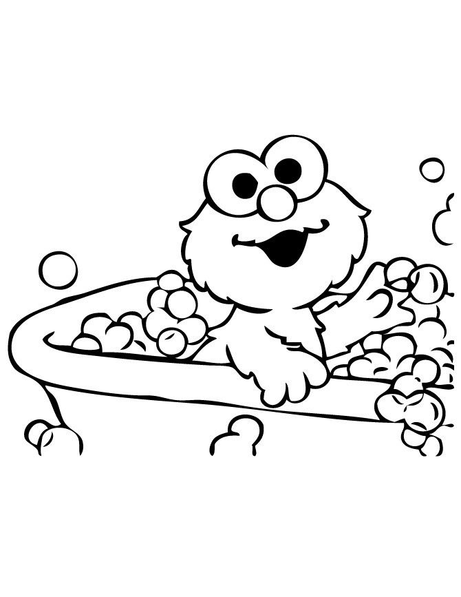 Elmo Coloring Pages Sesame Street Sheets Christmas