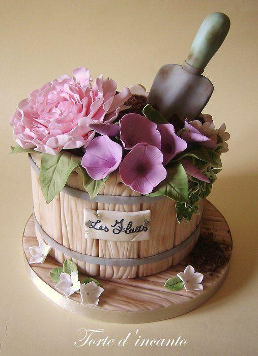 Les Fleurs fondant cake Pinteres