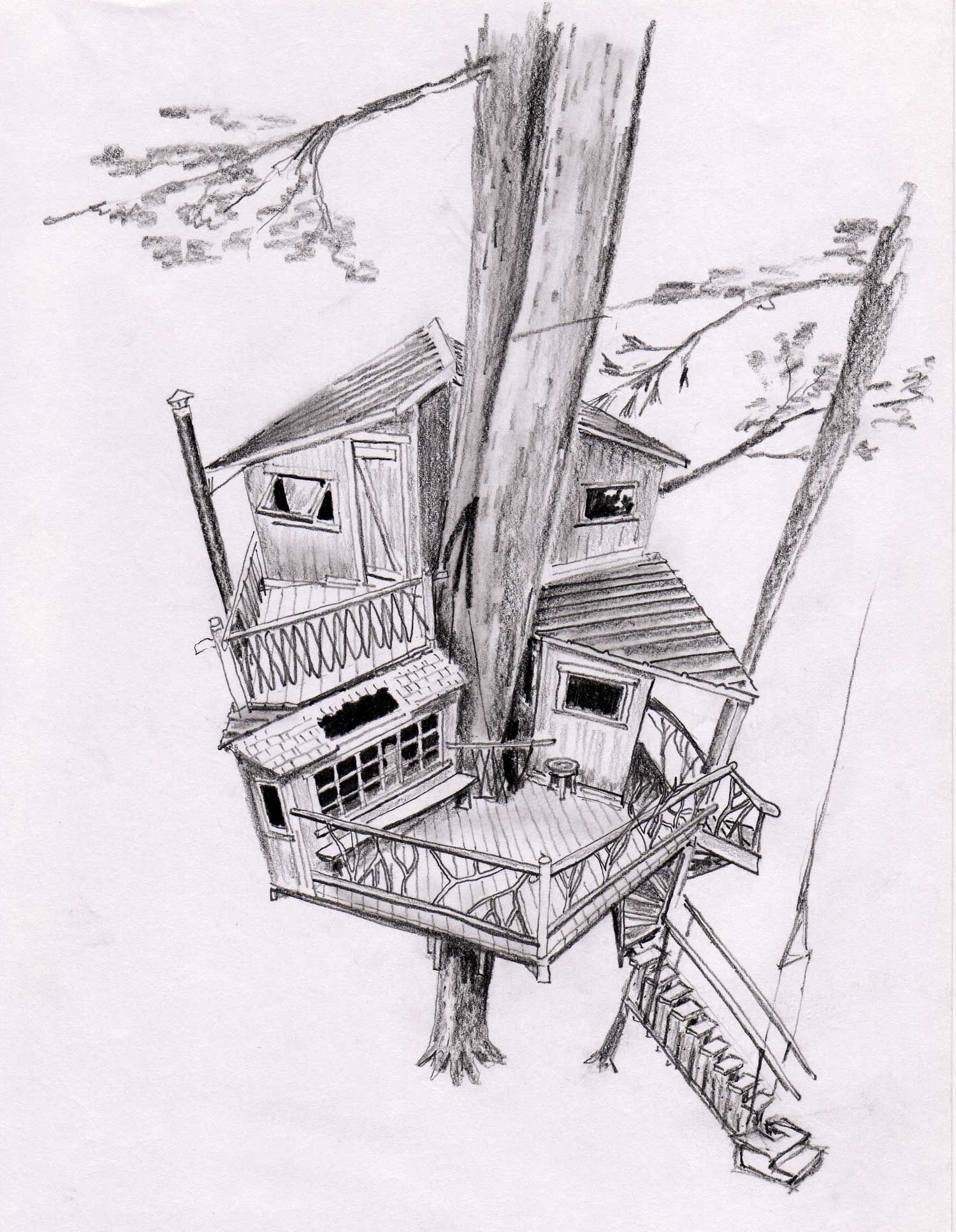 Inside House Drawing: Interior Design Of Architecture Beautiful Tree House
