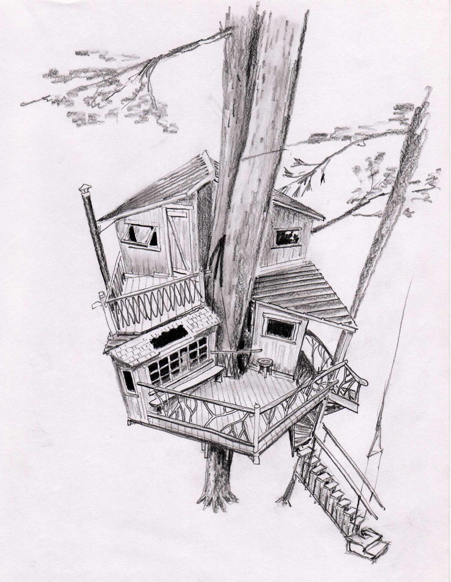 Tree House Sketch Design Treehouse Pinned By Dlar