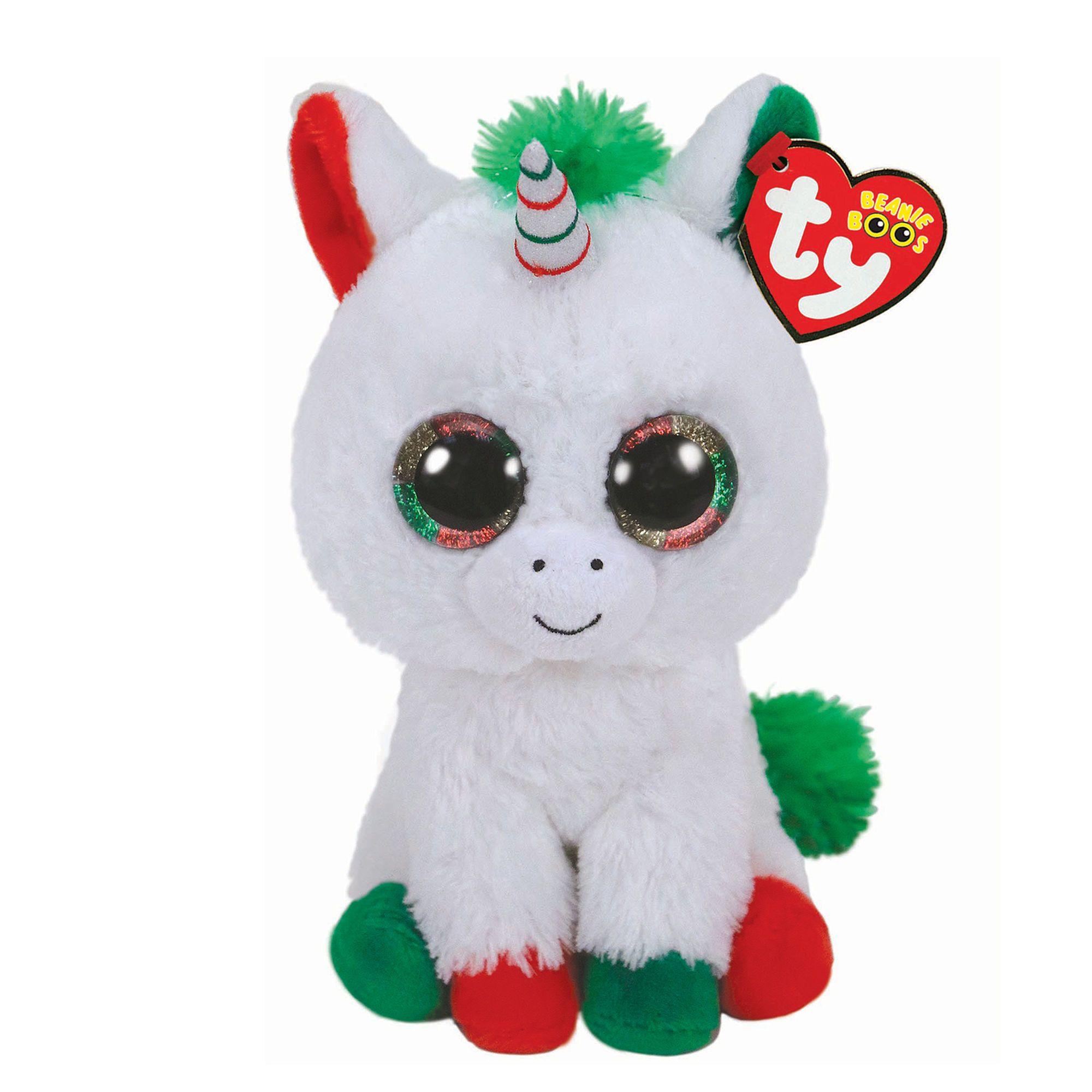 bb0054d2ca0 Ty Beanie Boo Medium Candy Cane the Unicorn Plush Toy ...