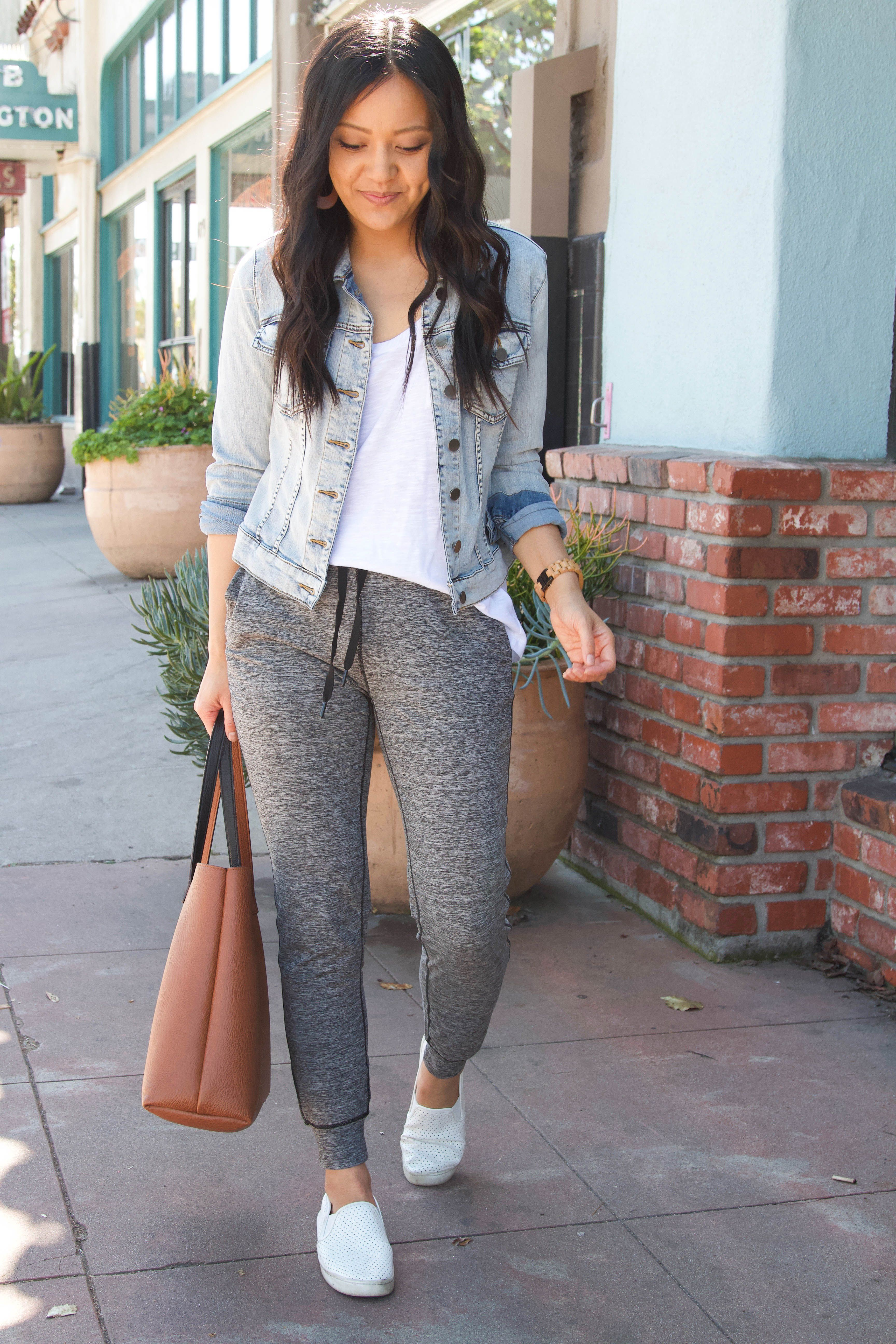 Photo of Four Comfy Athleisure Outfits for Spring & Affordable Leggings + Joggers