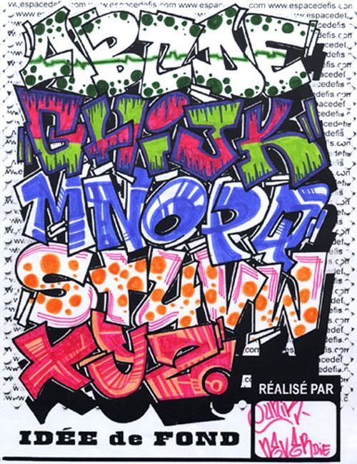 Google Image Result For Neamgraffiti Wp Content Uploads 2010 12 Graffiti Alphabet Bubble Letters Style 4