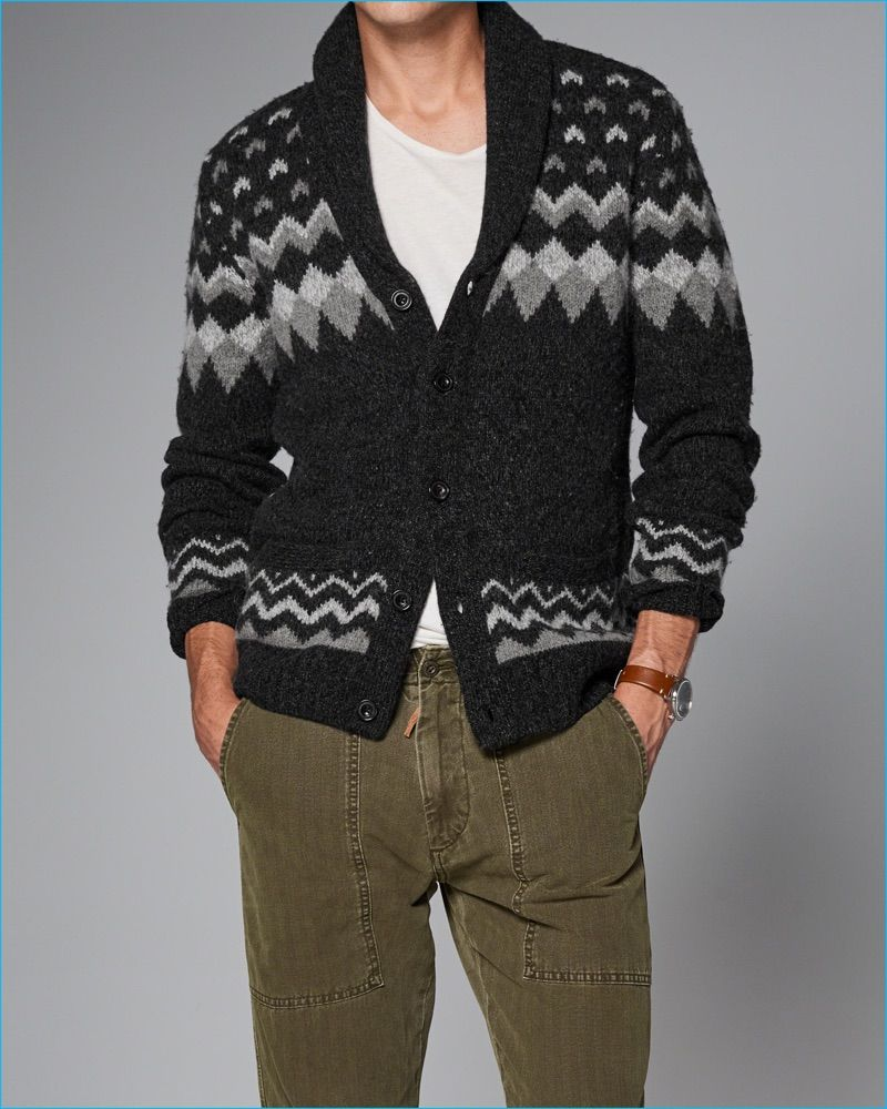 Abercrombie & Fitch 2016 Fall/Winter Men's Shawl Cardigans | Fair ...