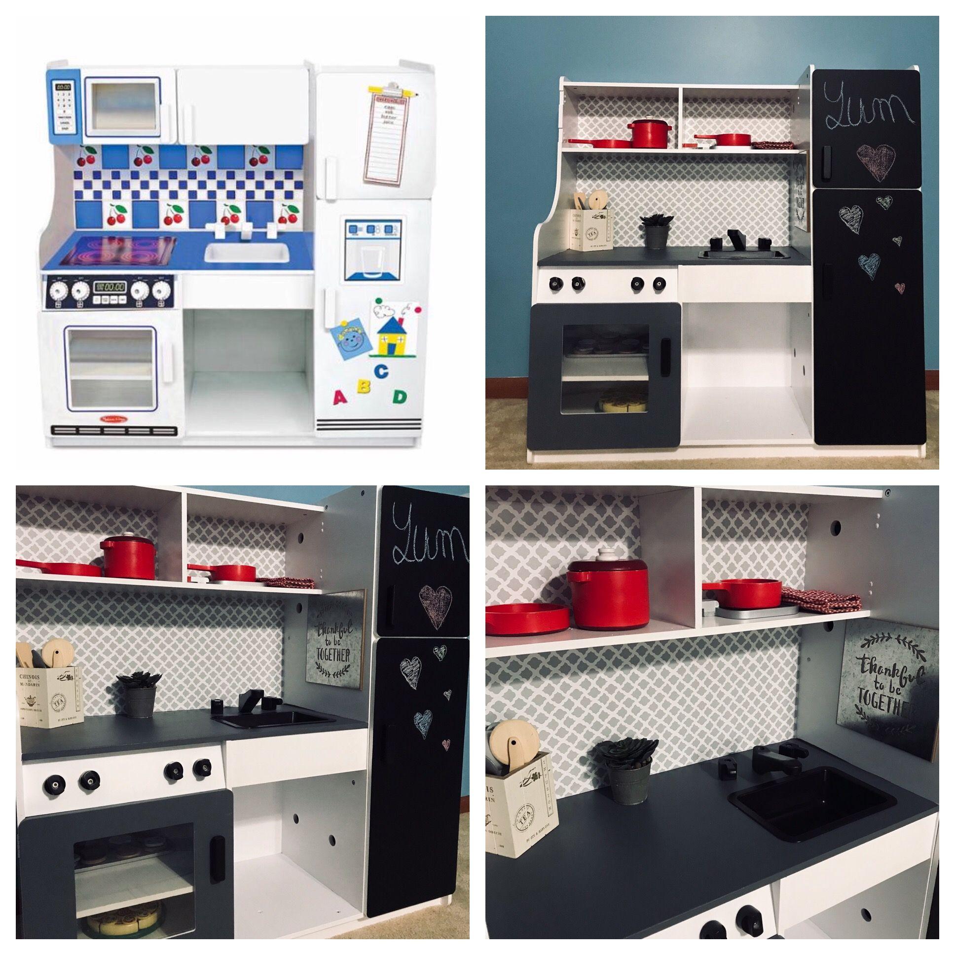 Play Kitchen Remodel Diy Play Kitchen Play Kitchen Kitchen Redo