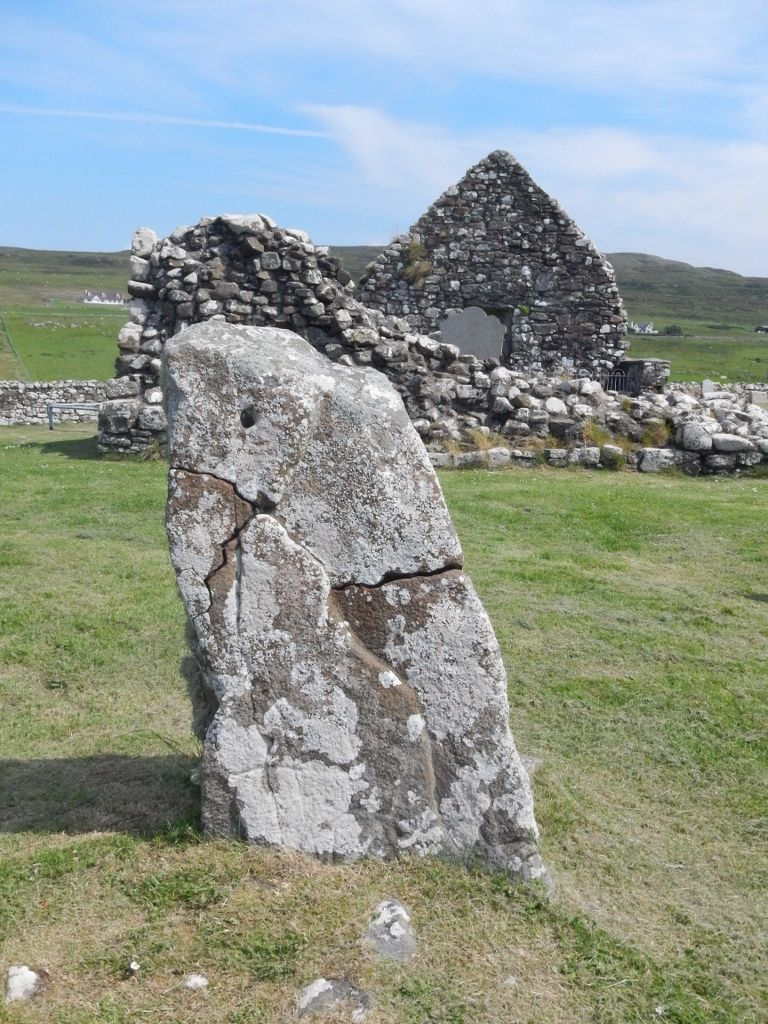 Standing stone, Trumpan Churchyard, Waternish Penninsula, Skye, Scotland