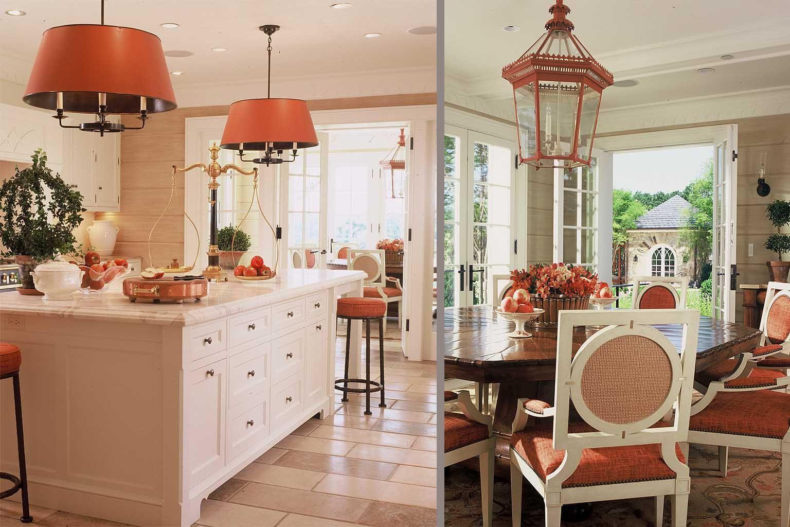 Charles Edwareds Large Hanging Tole Shade Lights On Left Turner - Kitchenette lighting