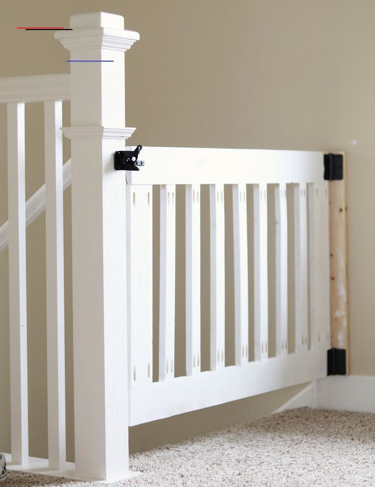 Custom Wooden DIY Baby Gate for Stairs and Hallways DIY