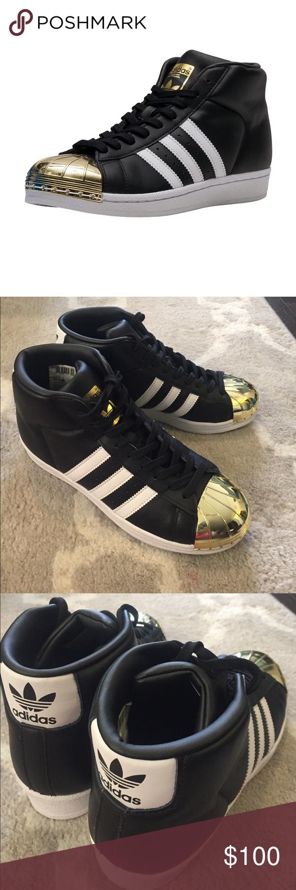 on sale 52727 8c1db Adidas Superstars Pro Model Metal Toe RARE Size 7 STYLE#: BB2130 RARE GOLD  METALLIC