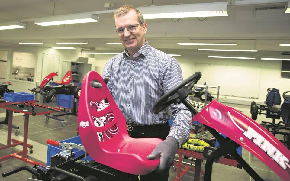 Lean-labra. —Polkuautotehtaalla voimme simuloida lean-kehitystä, JTO Lean Training Centerin toimitusjohtaja Peter Kanerva sanoo.