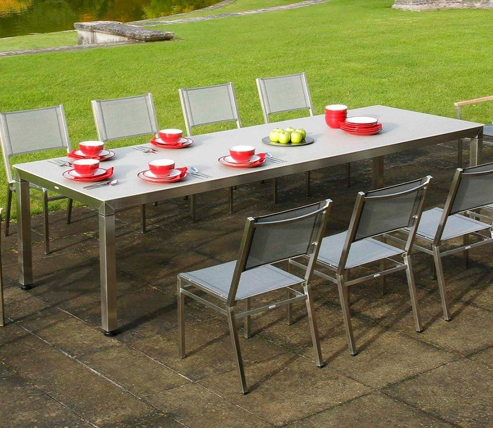 Equinox 300cm dining table with ceramic top from barlow tyrie