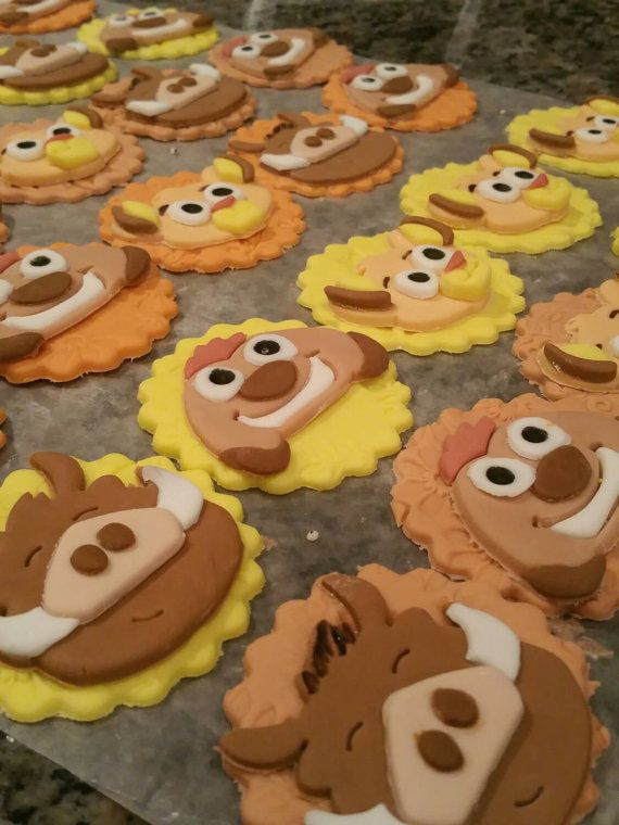 Fantastic Lion King Fondant Cupcake Toppers By Bigtops On Etsy Lion King Funny Birthday Cards Online Barepcheapnameinfo