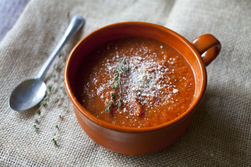 Roasted Tomato Soup with Italian Sausage
