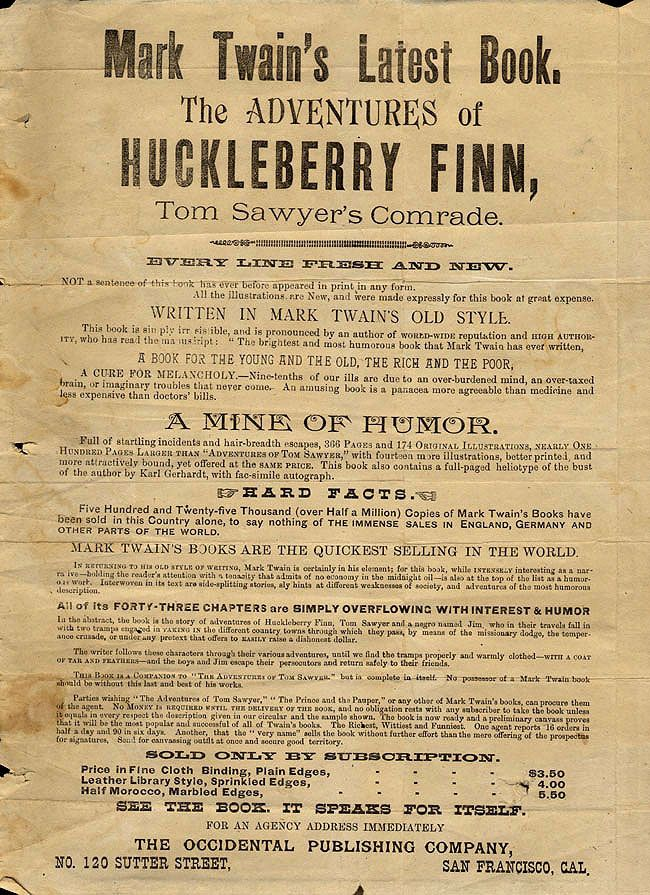 mark twain the adventures of huckleberry finn essay The novel, the adventures of huckleberry finn, is very much a  how does mark  twain convey his ideas about right and wrong in  we will write a custom essay  sample on any topic specifically for you for only $1390/page.
