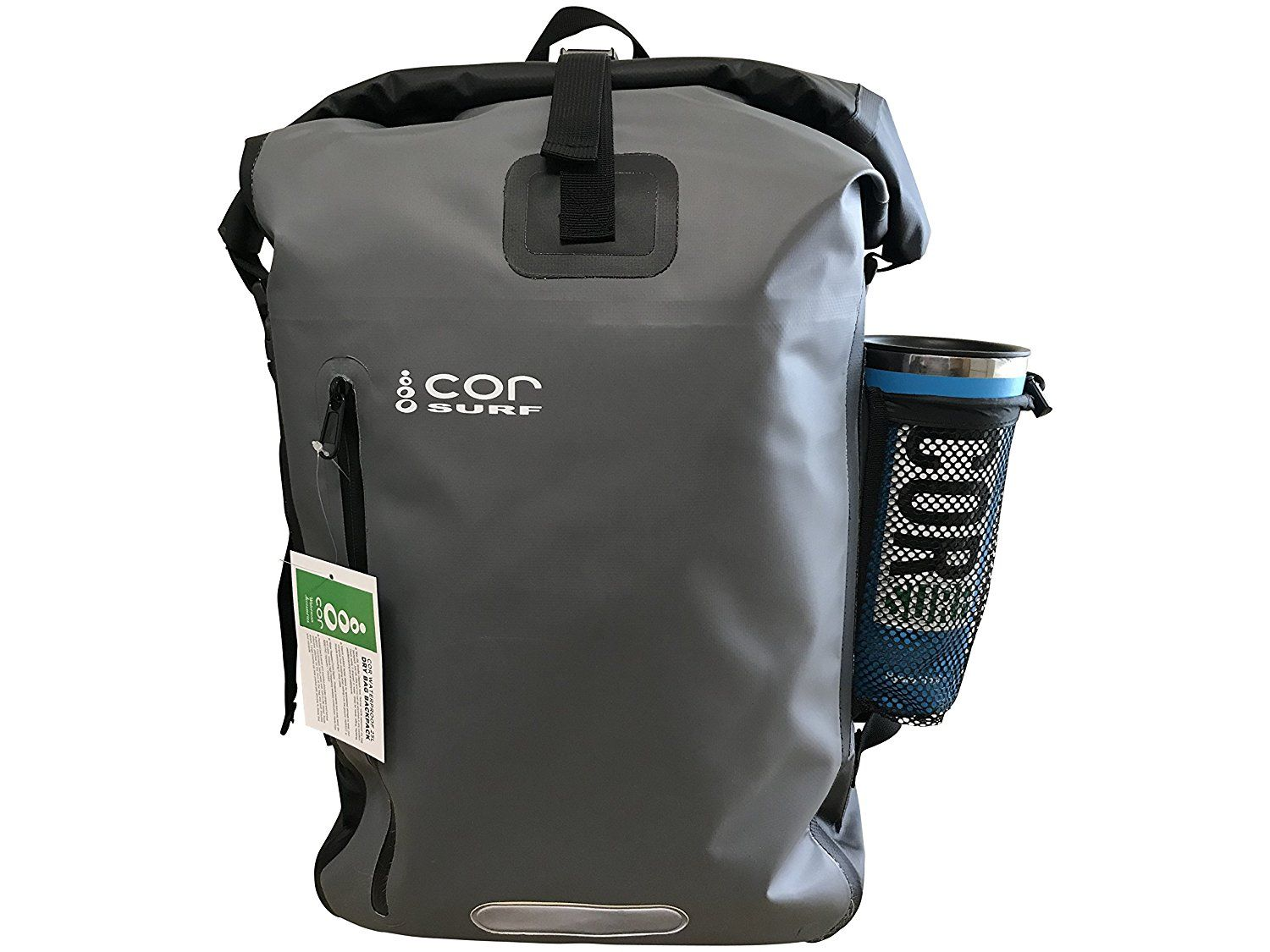 057255ec7bd Amazon.com   COR Waterproof Dry Bag Roll-Top Backpack with Padded Laptop  Sleeve   25L and 40L   Travel, Camping, Hiking, Rafting, Surfing   Sports    ...