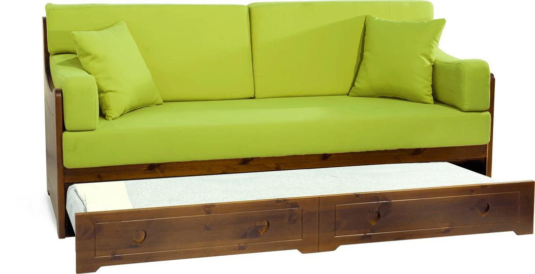 Divano letto san candido completamente in legno massello - Divano letto pino ...