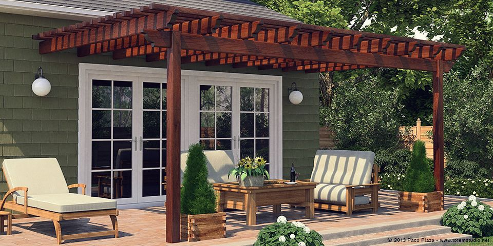 pergola post to beam connection types - Google Search
