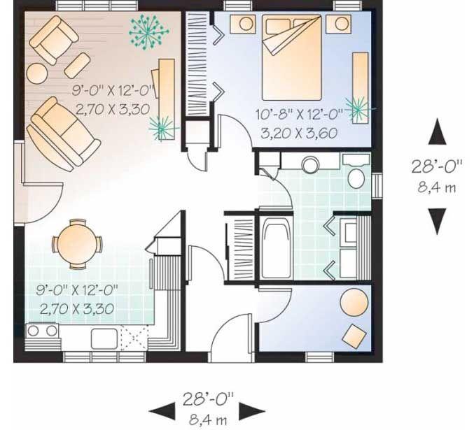 planos de casas modernas tipo americano