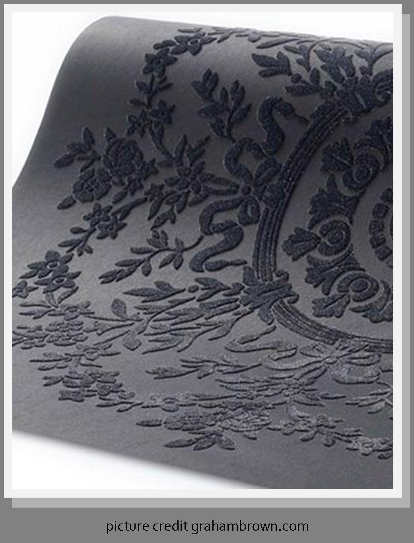 Wanders blue wanders forest flocked wallpaper damask wallpaper - Love This Flocked Wallpaper Time2design Wallpaper Wednesday I Love Flock