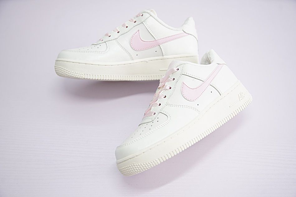 NIKE AIR FORCE 1 GS LIGHT WHITE PINK SWOOSH 314219 130 #justdoit #swag #