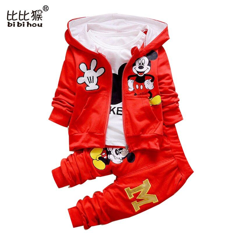 Autumn Baby Girls Boy Outfits T-shirt+Pants Set Toddler Clothes Tracksuit 3PCS