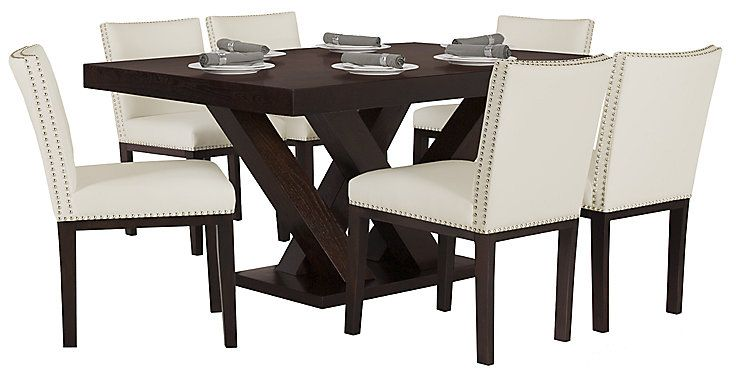 Superb Tiffany White Rectangular Table 4 Bonded Chairs City Bralicious Painted Fabric Chair Ideas Braliciousco