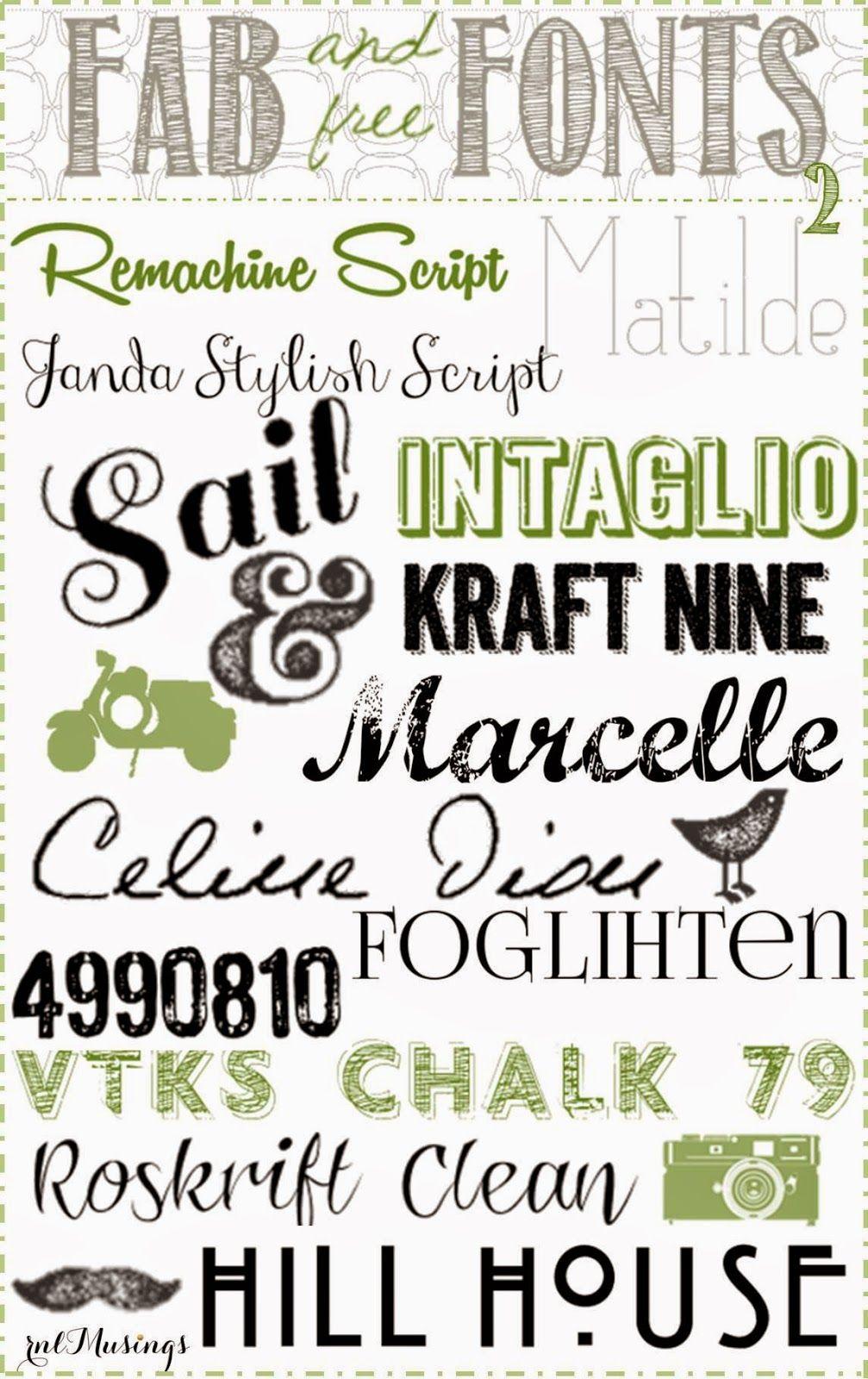 Free fonts chalkboard fonts modern fonts dingbat fonts Modern script font