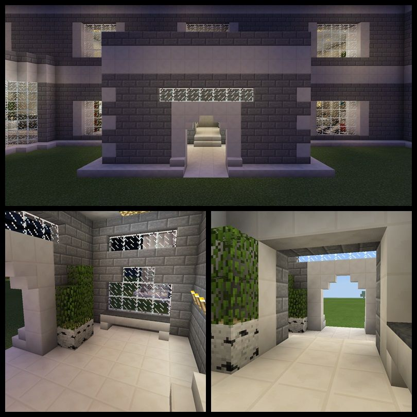 Minecraft House Entry Way Door Porch Front Entrance