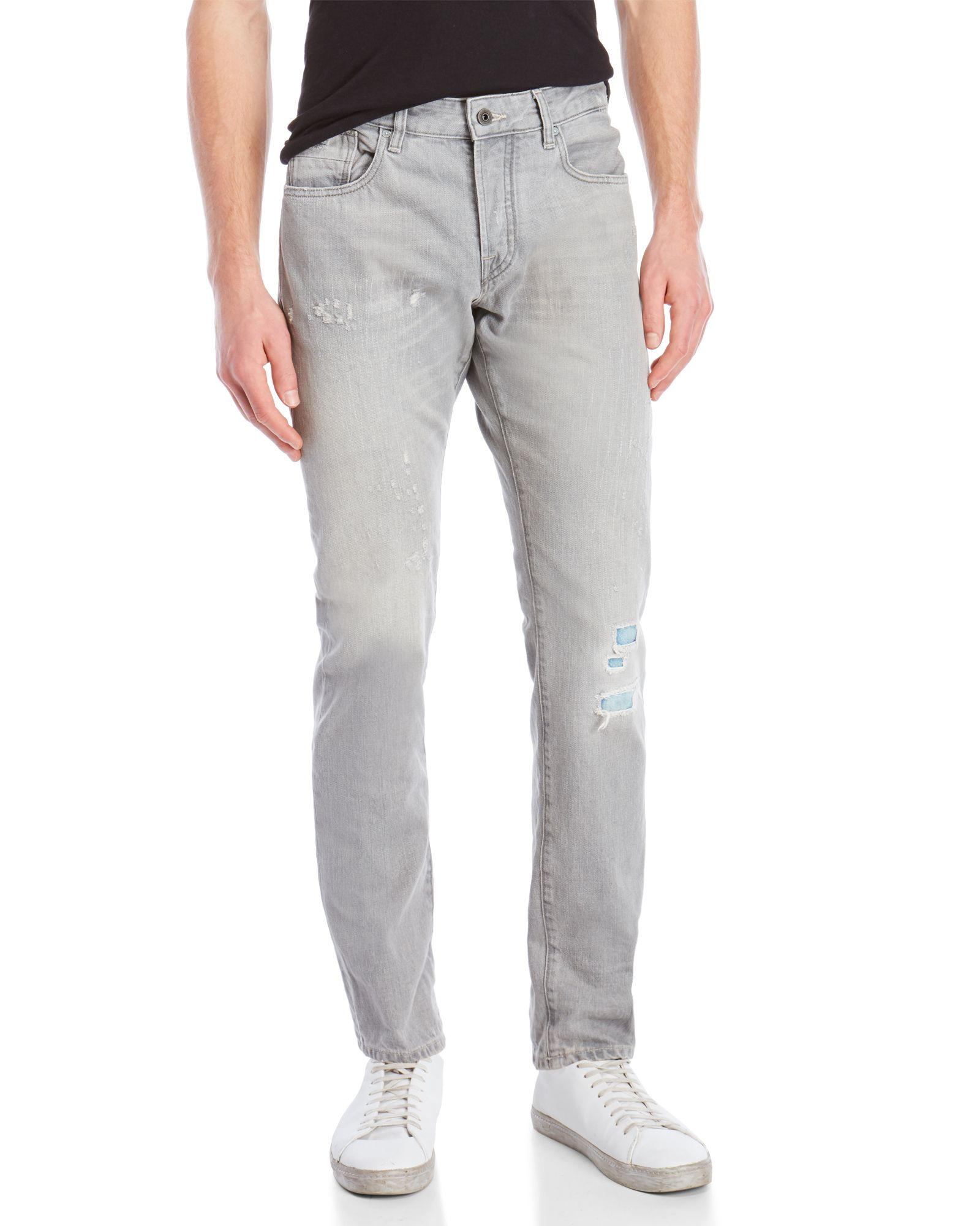 Scotch & Soda Realston Distressed Taper Jeans