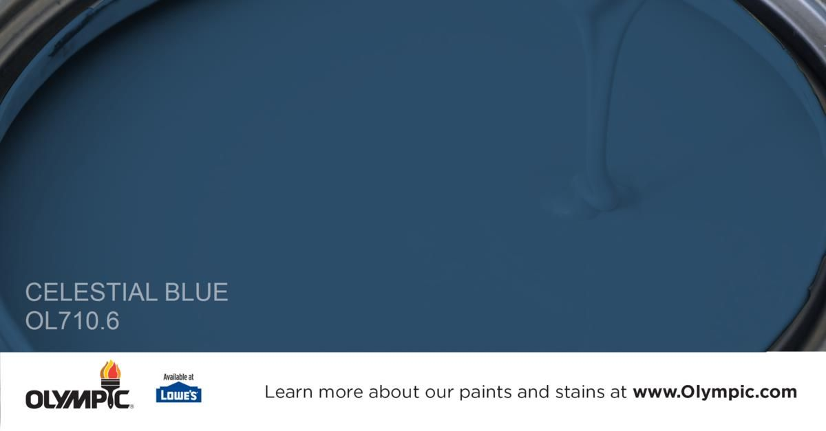 Celestial Blue Ol710 6 Is A Part Of The Blues Collection By Olympic Paint