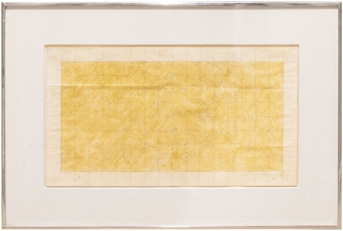 larry poons midget racer 1963 colored pencil on graph paper 24 5