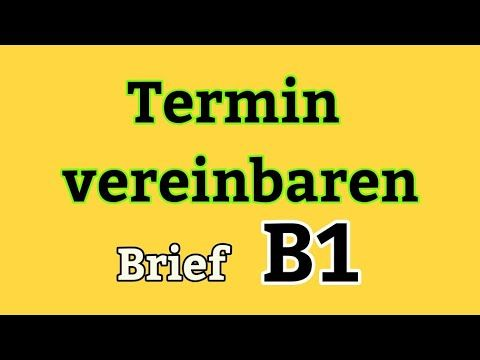 Brief (Termin vereinbaren) Deutsch Niveau B1👍🤙 in 2020