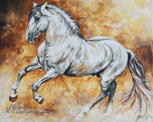 Horse Painting By Elise Genest Horse Painting Horses Horse Artwork