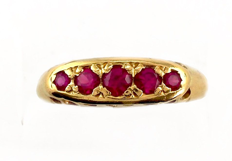 Antique Ruby Rose Gold Ring Victorian