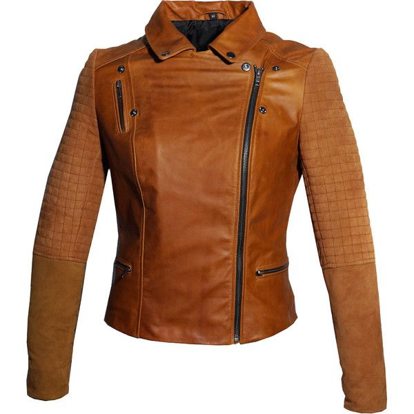 Hand Crafted Suede Padded Sleeve Motorcycle Moto Women Biker Jacket (£72) ❤ liked on Polyvore featuring outerwear, jackets, black, women's clothing, suede jacket, zip jacket, black moto jacket, fitted jacket and black zip jacket