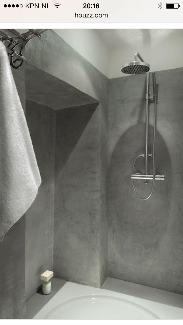 Beton cire rainshower | badkamer | Pinterest | Concrete, Bathroom ...